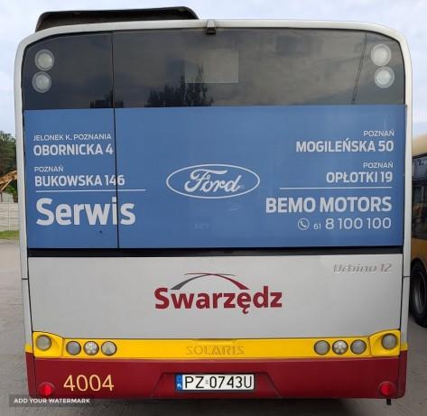Swarzędz - reklama halfback na autobusach komunikacji miejskiej