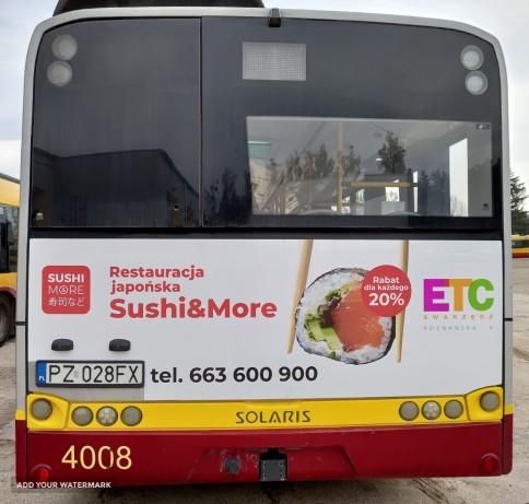 Swarzędz - reklama back na autobusach komunikacji miejskiej